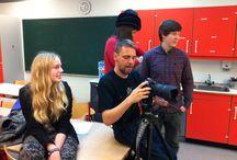"""#Butlereksamen / Klostermarksskolen filmvalghold har arbejdet hårdt med filmen """"Butlereksamen"""". Udvalgte billeder fra produktionen"""