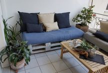 pallet couch / outdoor