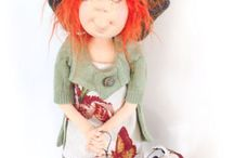 Cloth Doll Patterns by  Slightly Weathered Ladies  and More by Jill Maas