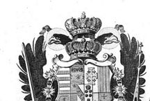 "European coat of arms from 1762 / Coat of arms from Johann Christoph Gatterer, ""Handbuch der neuesten Genealogie und Heraldik"", Nürnberg 1762"