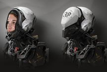 Helmets / Great Collection of Helmets starting from primitive protective ones to modern multi-purpose and my favourite, hightech/scifi helmets...