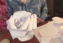 papierowe kwiaty- tło