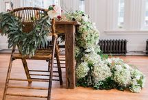 Cascading Table Runner / Romantic wedding in Carnegie Hall, Midtown New York City