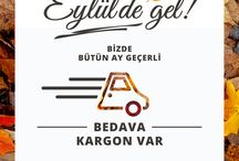 Eylülde Gel !!! Bedava Kargo / Eylül ayı boyunca ilk 50 TL ve üzeri alışverişinizde geçerlidir.