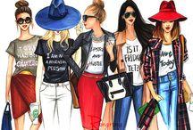 Ilustrații fashion