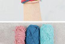 Armband av garn