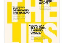 Design posters typographic