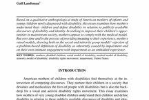 Disabilities.