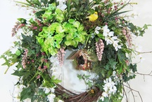 Wreaths / I have been making wreaths for many years.  They are my passion, and I enjoy nothing more than creating a work of art.  Here are some beautiful examples made by my fellow wreath-lovers. / by Pamela Larrabee
