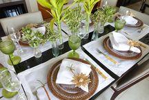 Mesa Posta  ♥ Almoço | Jantar / Aqui você encontra sugestões e inspirações de decorações de mesa - Mesa Posta para almoço ou jantar