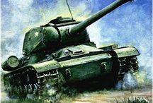 Ilustrations of soviet/russian tanks / Ilustracje czołgów radzieckich i rosyjskich