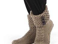 botas y zapatos en crochet