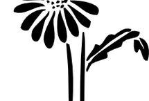 silhouette pattern kirigami / papercut art