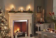 Festive Fireplaces