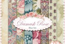 "Damask Rose by Robert Kaufman / Robert Kaufman - ""Damask Rose"" - fabrics collection"