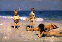 ESCENAS DE PLAYA EN EL ARTE / Favorite beach scene paintings. ESCENAS DE PLAYA FAVORITAS EN EL ARTE