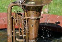 Bird Baths / Bird bath inspiration and How-To's