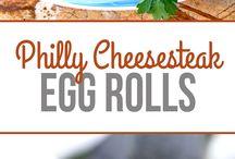 Eggrolls wontons fritti turnovers involtini fritti