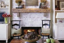 Fireplace / mantel / by Claire Jordan