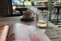YW Instagram Chillin' in Eindhoven before a sushi dinner date with my BFF. Great cappu ☕️ a refreshing shrub and a yoga mag #enjoylife #littlethings #goodcoffee #memyselfandi
