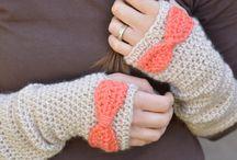 guantes largos a crochet