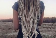 Blonde ombre hair