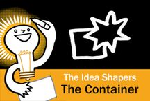 The Idea Shapers: The Container / In her 2016 book The Idea Shapers, Brandy Agerbeck makes visual thinking attainable and enjoyable through a set of 24 Idea Shapers. The Container is the fourth visual thinking concept in the third step, CONNECT + CONTAIN.
