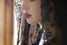 Beautiful black, fashion, nature, gothic, baroque...