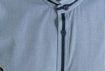 Placket details men shirt formal
