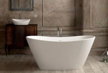 Baths in Silkstone / Baths made in Silkstone, a solid composite with a flat gloss.