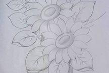σκιτσα λουλουδια