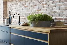 Brick wall keuken