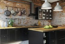 Industrial French country kitchens