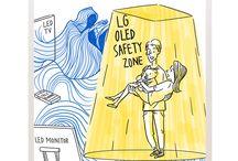 LG OLED light cartoon