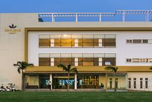 Arun Excello - Hospitality / Located close to Mahabalipuram, a UNESCO World Heritage Centre, Confluence Banquets & Resorts is situated on the edge of green belt around chennai, with backwaters forming the backdrop.