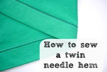 How to sew a hem with a twin needle