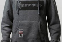 Gameness Grey Pullover Hoodie & Sweat Pants / The Gameness pull-over hoodie is amazingly comfortable.  This premium hoodie & pants are 80% cotton and 20% polyester with a brushed inside lining, making them super soft.  This hoodie features a kangaroo pocket and has logo accents on the front and back.  The pants have an elastic waistband and a drawstring.
