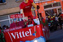 Marques Caravane du Tour de France 2016 / 11 marques de l'alimentaire sont partenaires du Tour de France. Elles participent à la caravane publicitaire qui passe en amont de l'arrivée des coureurs