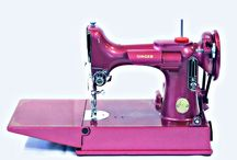 Painted sewing machines