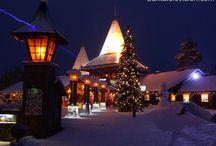 Arctic Circle at Santa Claus Village / Santa Claus Holiday Village and Santa Claus Village are crossed by the magical arctic circle line.