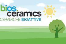 Bios Ceramics / Bios Self-Cleaning, grazie allo speciale trattamento basato sulla tecnologia HYDROTECT, in presenza di luce solare attiva una reazione in grado di abbattere gli inquinanti presenti nell'aria, decomporre lo sporco che si deposita sulla sua superficie e rimuoverlo grazie all'azione naturale dell'acqua piovana.  Bios Antibacterial è una linea di lastre ceramiche da rivestimento e pavimentazione in grès porcellanato pienamente vetrificato in grado di abbattere al 99,9% i principali ceppi batterici.