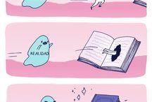 comédia de livros