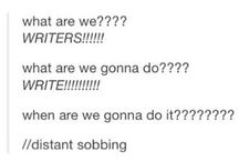 writer feels