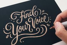 Lettering / Brush lettering inspiration and tutorials