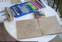 malen und zeichnen / Anleitungen zu verschiedenen Techniken und Studien zum Zeichnen
