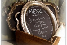 Table Service / ✧☽ #Bohemefit Menus and serving trays both #diy and #décore - for treasuring guests ☾✧