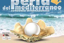 Cartel de Miss Perla del Mediterraneo en Italia