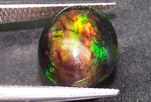Exotic Black Opals / Beautiful 'N' Hot Black Opals with Color Play