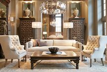 Subtle and Sophisticated Neutrals / Subtle and sophisticated neutrals consisting of satin, linen, wood, shell materials collaborated around beautiful french furniture and elegant chandeliers.