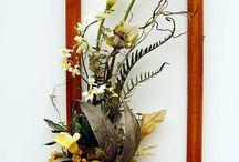 искуственные цветы композиции